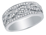 Diamond Anniversary Ring 1/2 Carat (ctw) 14K White Gold