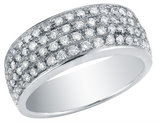 Diamond Wedding AnniversaryBand 7/8 Carat (ctw) in 14K White Gold