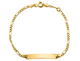 Baby Figaro ID Bracelet in 14K Yellow Gold (6 Inches)