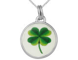 4 Leaf Clover Pendant Necklace In Sterling Silver with Chain