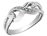 Infinity Diamond Promise Ring in 10K White Gold