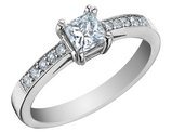 Princess Cut Diamond Engagement Ring 2/3 Carat (ctw) 14K White Gold