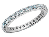 Eternity Diamond Wedding Band and Anniversary Ring 1.0 Carat (ctw) in 14K White Gold