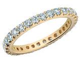 Eternity Diamond Wedding Band Anniversary Ring 1.0 Carat (ctw) 14K Yellow Gold