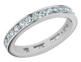 Anniversary Ring 1.0 Carat (ctw) in 14K White Gold Eternity Diamond Wedding Band