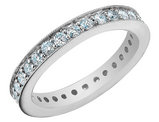 Diamond Eternity Anniversary Ring 1.0 Carat (ctw) 14K White Gold