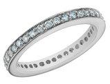 Diamond Anniversary Wedding Ring 1/2 Carat (ctw) 14K White Gold