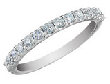 Diamond Anniversary Wedding Ring 1/4 Carat (ctw) 14K White Gold