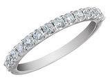 Diamond Anniversary Wedding Ring 1/4 Carat (ctw) 14K White Gold