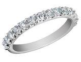 Anniversary Ring: 3/4 Carat (ctw) in 14K White Gold Eternity Diamond Wedding Band
