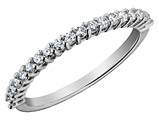 Diamond Wedding Band and Anniversary Ring 1/4 Carat (ctw) in 14K White Gold