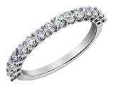 Diamond Wedding Band and Anniversary Ring 1/2 Carat (ctw) in 14K White Gold