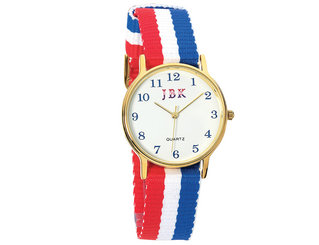 American Flag Watch with 24K Gold Accent
