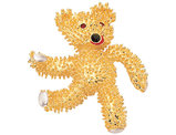 Synthetic Crystal Teddy Bear Brooch with 24K Gold Plating (Jacqueline Kennedy Collection)