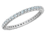Diamond Anniversary and Semi-Eternity Wedding Band 1/4 Carat (ctw) in 14K White Gold