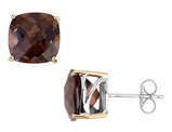 Smokey Quartz Earrings 7.69 Carats (ctw) in Sterling Silver