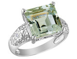 Green Amethyst Ring 4.90 Carat (ctw) in Sterling Silver