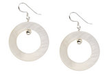 White Mother of Pearl Earrings in Sterling Silver