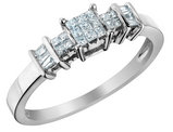 Princess Cut Diamond Ring 1/4 Carat (ctw) in 14K White Gold